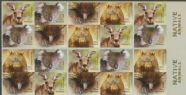 AUS SG4300b Australian Native Animals self-adhesive booklet pane (SB491) of 20